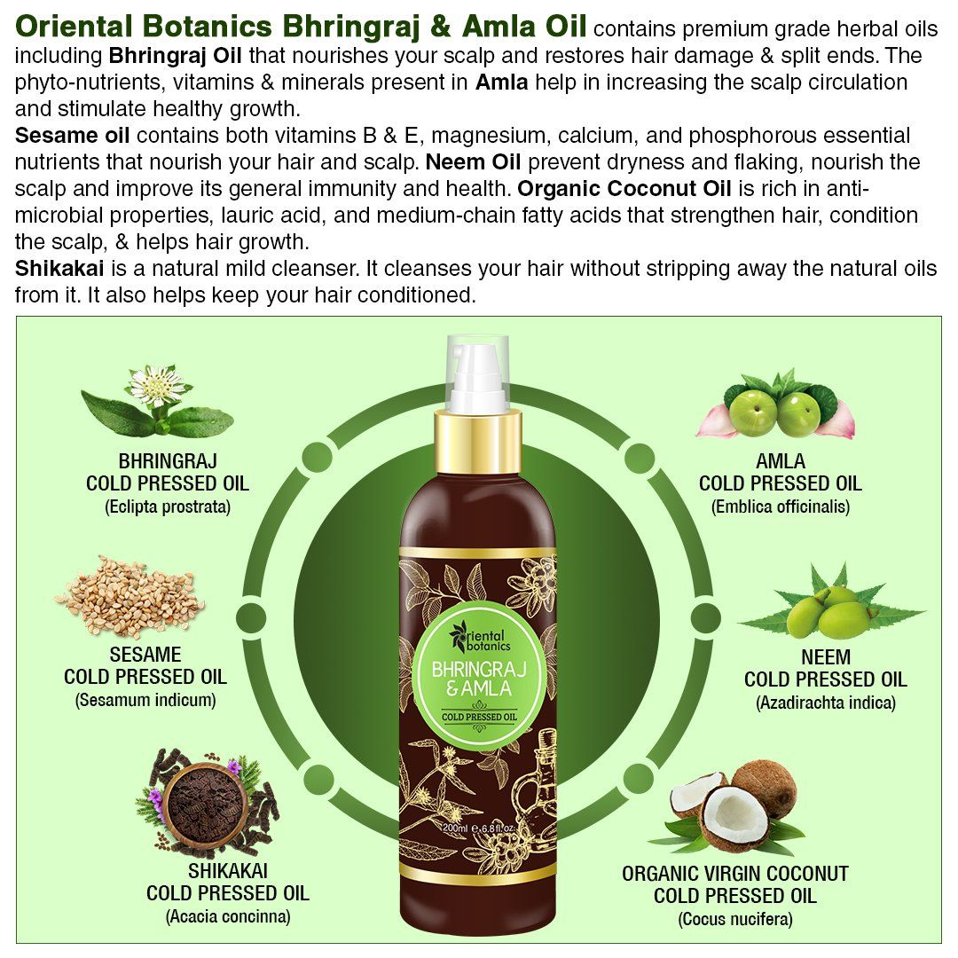 Buy Oriental Botanics Bhringraj Amla Oil For Hair Online At Best