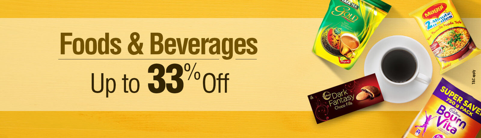 Food & Beverages up to 33% off