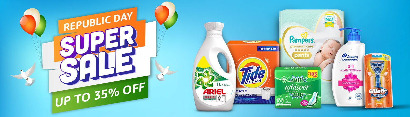 Get upto 35% off on Republic day Super Sale offers