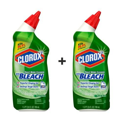 Clorox Toilet Cleaner Fresh Scent : Buy 1 Get 1 Free, 709 ml