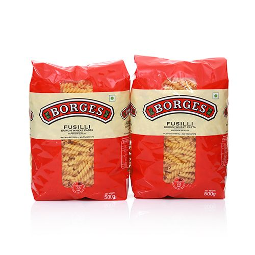 Buy 1 Get 1 Free on BORGES Fusilli Pasta, 500 gm Pouch By Bigbasket @ Rs.195