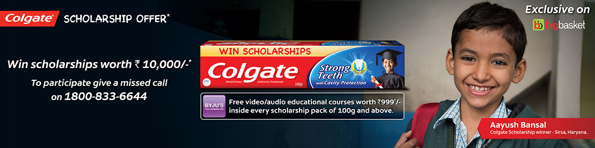 Colgate Scholarship Offer | bigbasket com