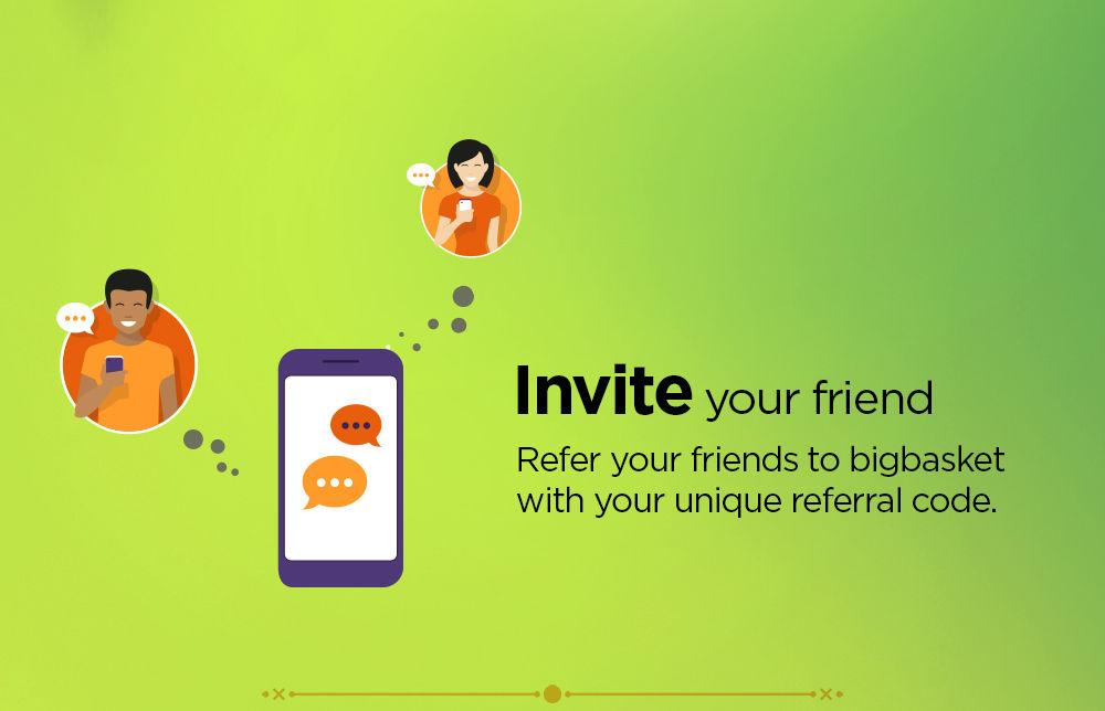Refer and earn | bigbasket com