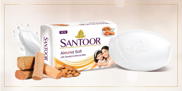 More About The Product From Brand About the product Santoor Almond Soft  Skincare secrets for the modern woman Discover the goodness of the  deep-acting ingredients, Sandal and Almond Milk, as they come together in Santoor  Almond Soft. These ...
