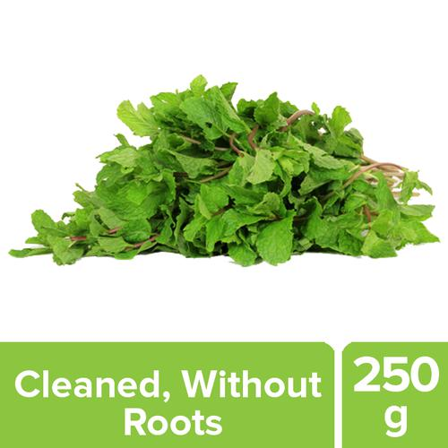 Fresho Mint Leaves - Cleaned, without roots, 250 g