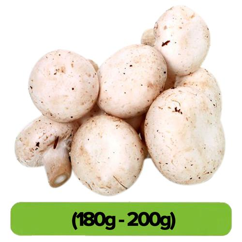 Fresho Mushrooms - Button, 1 pack (Approx .180g - 200 g)