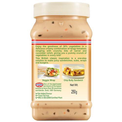 Dr. Oetker FunFoods Cucumber & Carrot Sandwich Spread, 250 g Jar