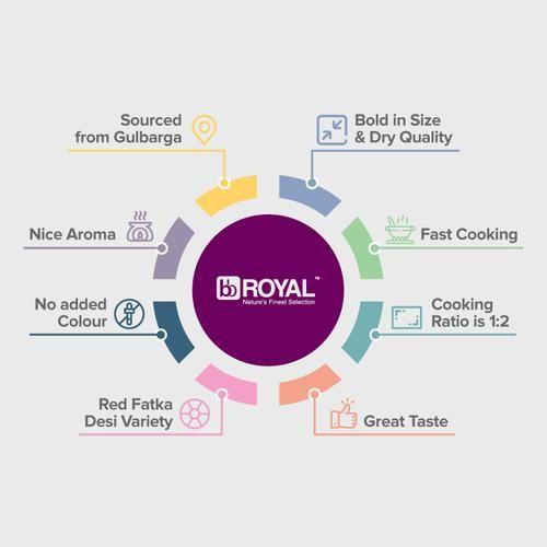 BB Royal Toor Dal/Togari Bele - Desi, 1 kg Pouch