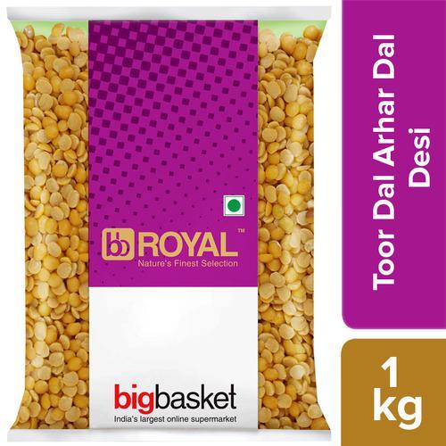 bb Royal Toor Dal/Arhar Dal - Desi, 1 kg Pouch