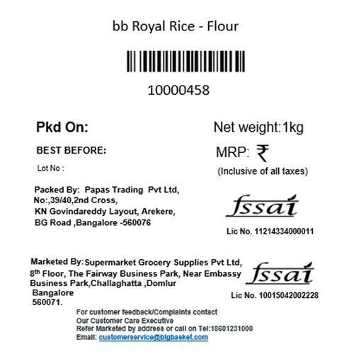BB Royal Rice - Flour, 1 kg Pouch