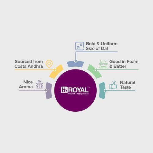 BB Royal Urad Dal/Uddina Bele - Split, 500 g Pouch