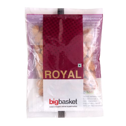 bb Royal Almond/Badam - Roasted & Salted, 200 g Pouch