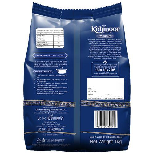Kohinoor Basmati Rice - Traditional, Authentic, Aged, 1 kg