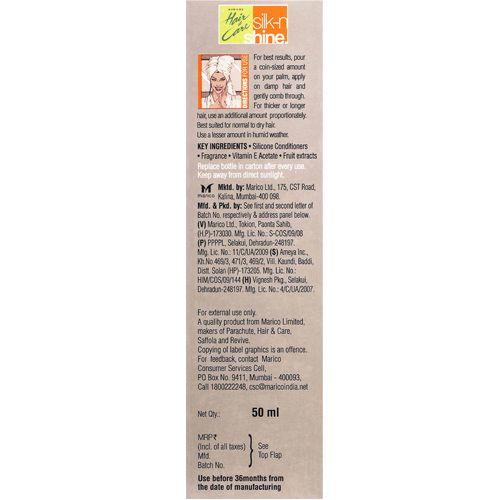 Buy Hair Care Hair Serum Silk N Shine 50 Ml Bottle Online At Best Price Bigbasket
