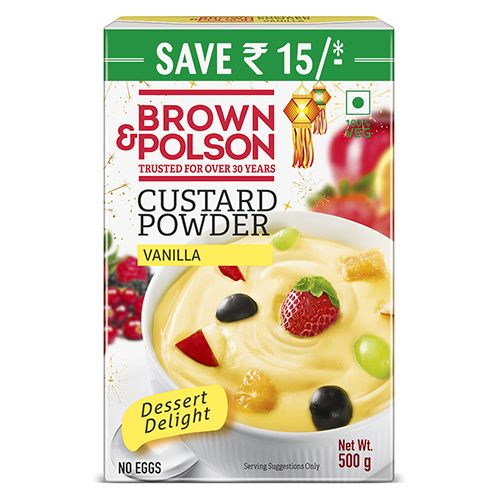 Brown & Polson Custard Powder - Vanilla Flavor, 500 g