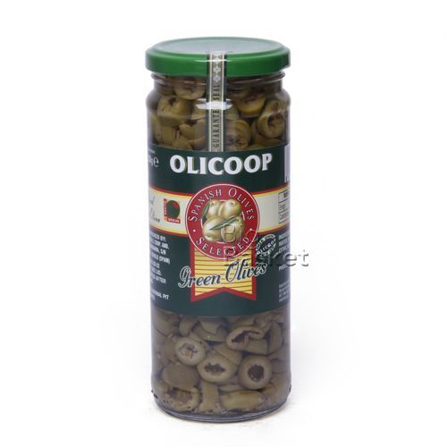 Olicoop Olicoop Olives - Green (Sliced) 450 gm Jar, 450 gm