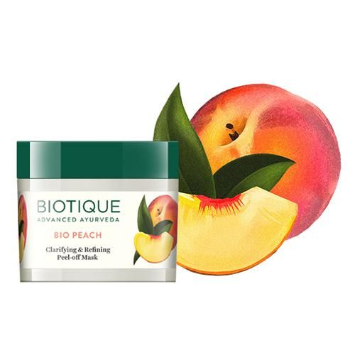BIOTIQUE Bio Peach - Clarifying & Refining Peel-Off Mask For Oily & Acne Prone Skin, 50 g