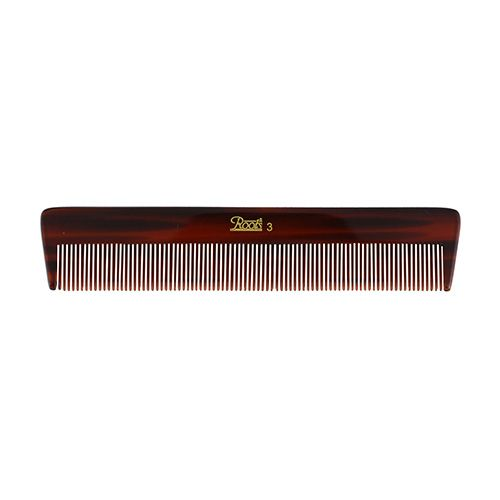Roots Brown Fine Teeth Comb For Fine Long Straight Hair - 3, 1 pc Pouch