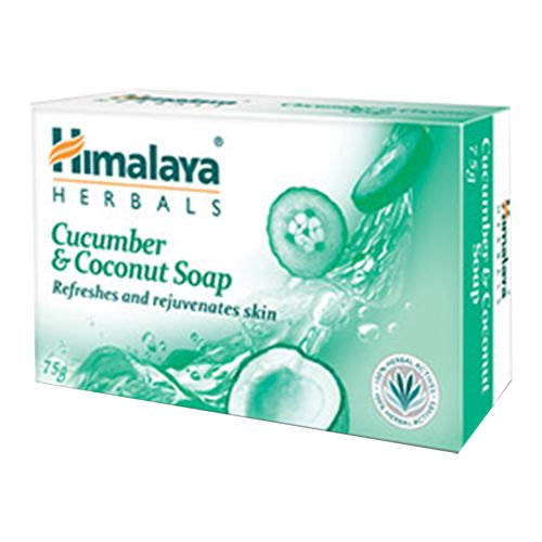 Himalaya Cucumber & Coconut Soap, 75 g