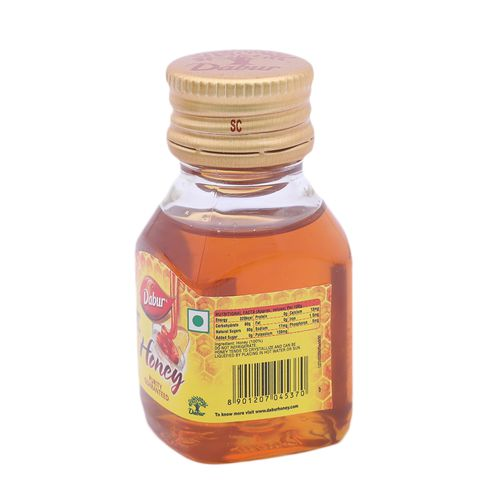 Dabur 100% Pure Honey - Worlds No.1 Honey Brand With No Sugar Adulteration, 50 g Bottle