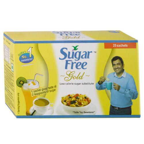 Sugar free Gold - Low Calorie Sugar Substitute (Sachets), 25 pcs Carton