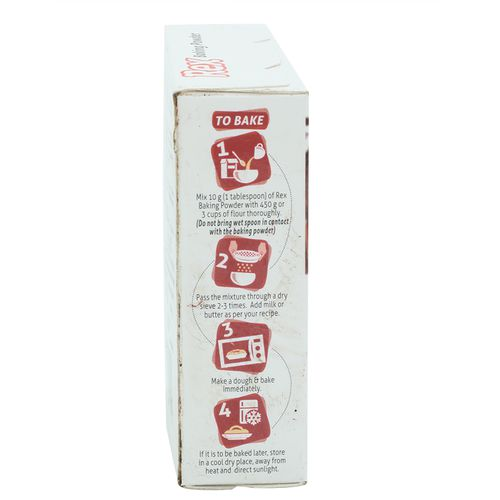 Rex Baking Powder, 100 g Carton