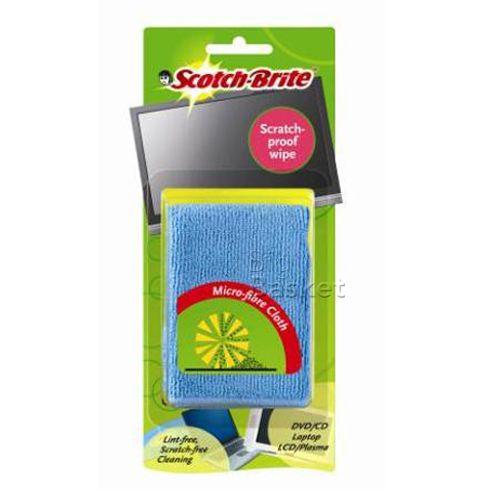 Scotch brite Scratch Proof Wipe - Micro Fibre Cloth (205mm x 205mm), 1 pc Carton