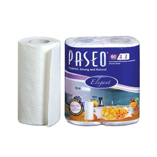 Paseo Kitchen Towel - 2 Rolls, 2 ply, 60 pulls