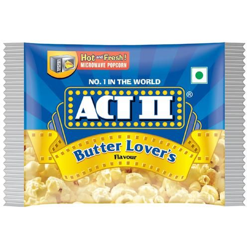 ACT II Microwave Popcorn - Butter Lover's, 33 g Pouch