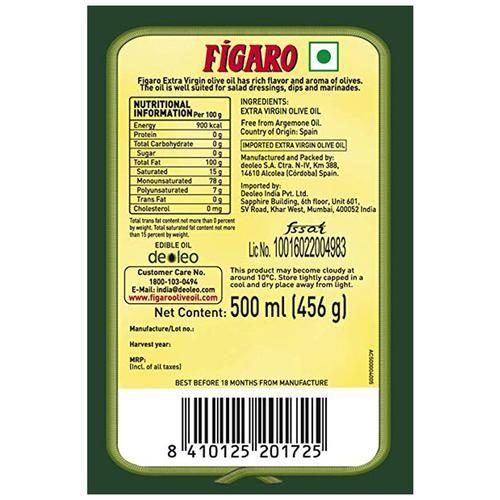Figaro Extra Virgin Olive Oil, 500 ml Bottle