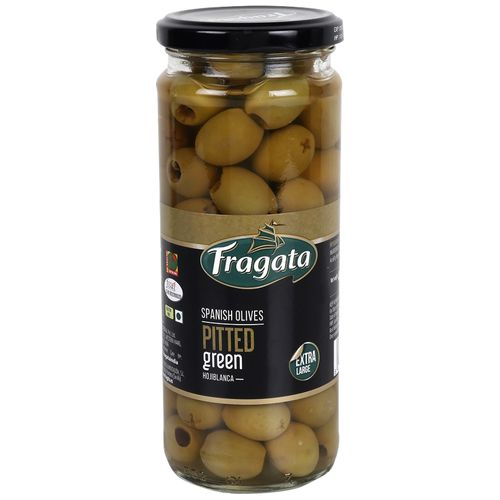 Fragata Spanish Olives - Pitted Green, 440 g Jar