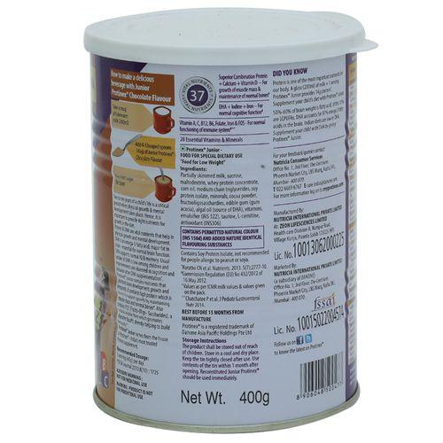 Protinex Nutritional Supplement - High Protein, Junior, Chocolate Flavour,  400 g Tin