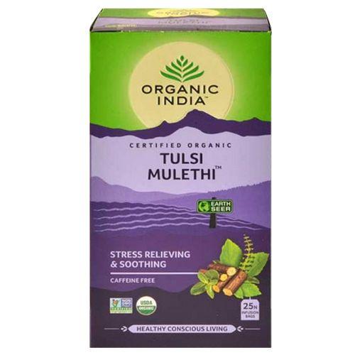 ORGANIC INDIA Tea - Infusion, Tulsi Mulethi, 25 bags Carton
