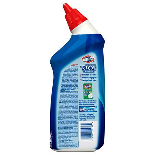 Clorox Toilet Bowl Cleaner - With Bleach, Rain Clean, 709 ml