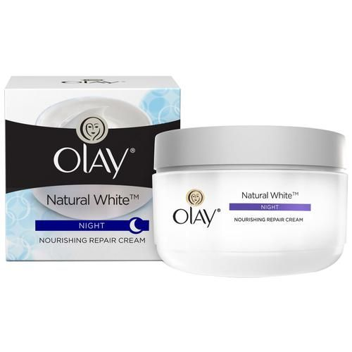 Olay Natural White - All-In-One Fairness Night Skin Cream, 50 g