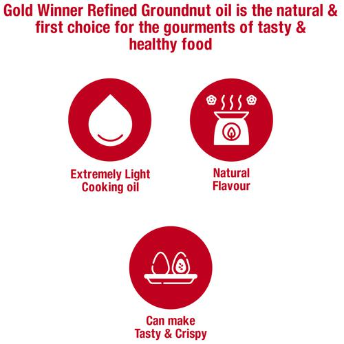 Gold Winner Refined Groundnut - Oil, 1 L Pouch