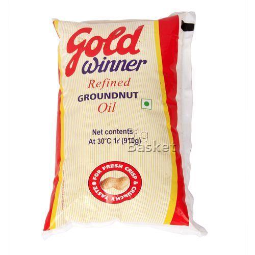 Gold Winner Refined Groundnut - Oil, 1 L Pouch