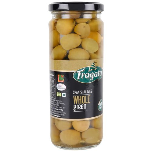 Fragata Spanish Olives - Whole Green, 450 gm Jar