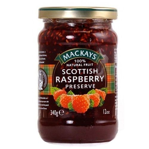 Mackays Preserve - Raspberry (Scottish), 340 gm Bottle