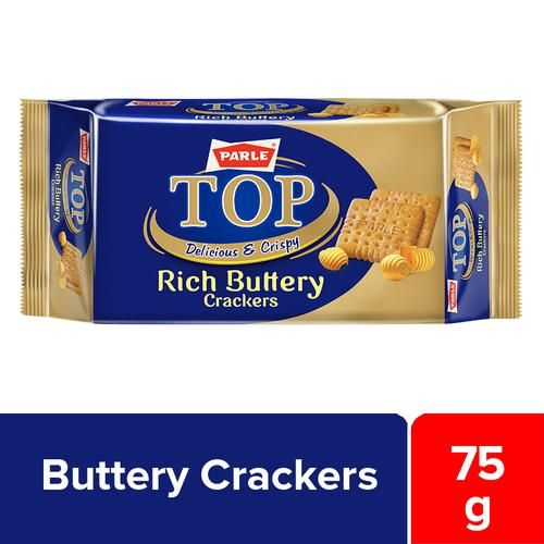 Parle Top Buttery Crackers, 75 g Pouch