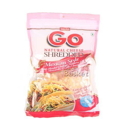 Gowardhan Go Natural Cheese - Shredded Mexican Style, 150 gm Pouch