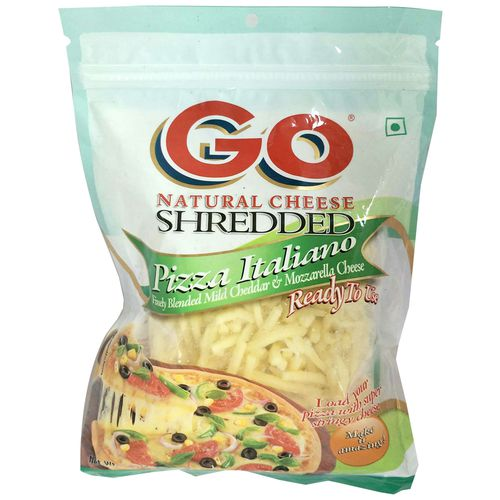 Gowardhan Natural Cheese - Shredded Pizza Italiano, 150 gm Pouch
