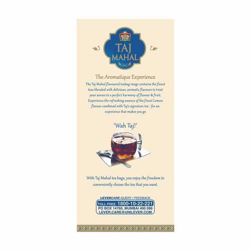 Taj Mahal Tea - Fresh Lemon, 25 Bags x 9.9 gm each (249 gm)