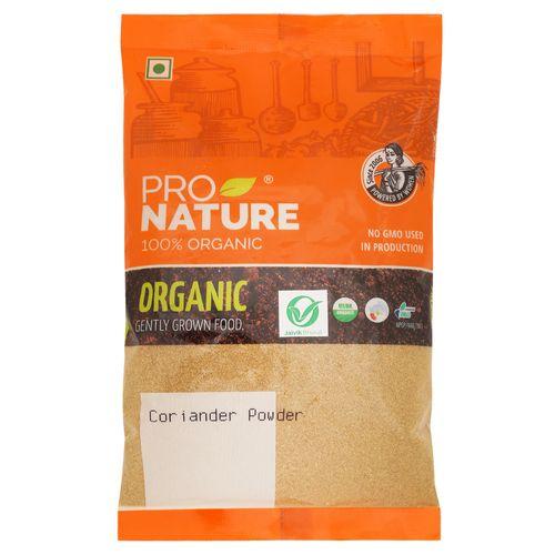 Pro Nature Organic Powder - Coriander, 100 gm Pouch