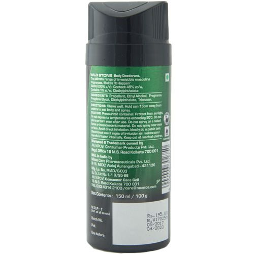 Wild Stone Body Deodorant - Forest Spice, 150 ml