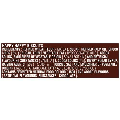 Parle Happy Happy Choco-Chip Cookies, 80 g Pouch