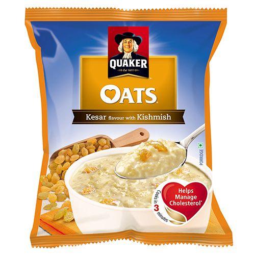 Quaker Oats - Kesar Flavour with Kishmish, 40 gm