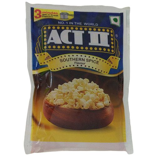 ACT II Instant Popcorn - Southern Spice, 70 g Pouch