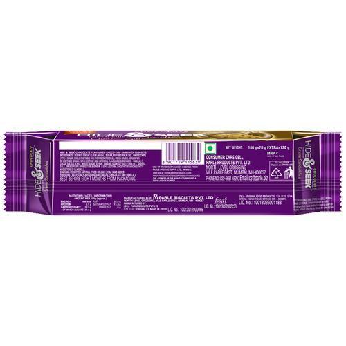 Parle Creams - Hide & Seek Creme Chocolate, 120 g Pouch