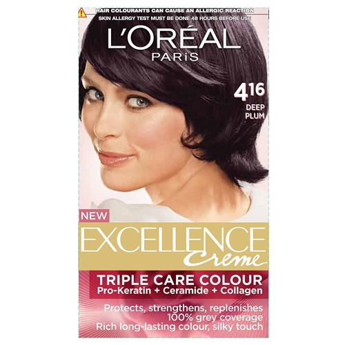 Loreal Paris Loreal Paris Excellence Creme Hair colour Deep Plum 416 72 ml + 100 gm, 72 ml + 100 gm